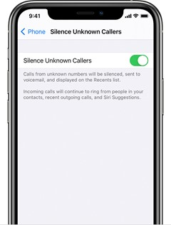 iphone silence unknown callers